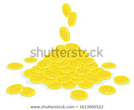 Foto stock: Engraçado · euro · moeda · vetor · desenho · animado · diferente