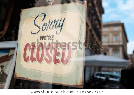 Stock photo: Street sign - bankruptcy