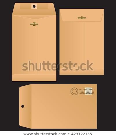 Manila envelope realista isolado branco arte Foto stock © oblachko