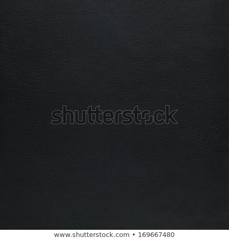 Natural qualitative black leather texture. Close up.  Stock photo © homydesign