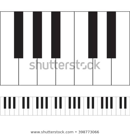 Blanc noir touches piano clavier amusement noir Photo stock © wavebreak_media