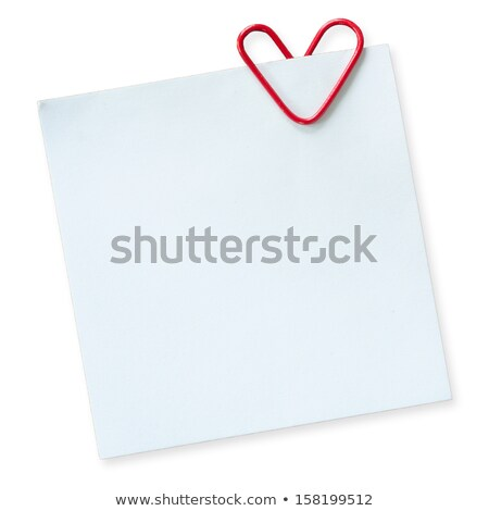 white paper note with clip and red heart stock photo © gladiolus