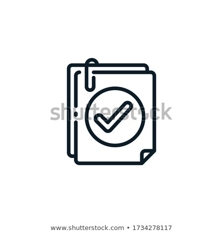 Check, approved, web interface icon Stock photo © make