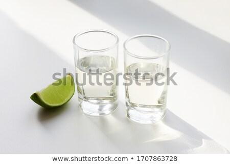 Dos tiro gafas tequila sal Foto stock © alex_l