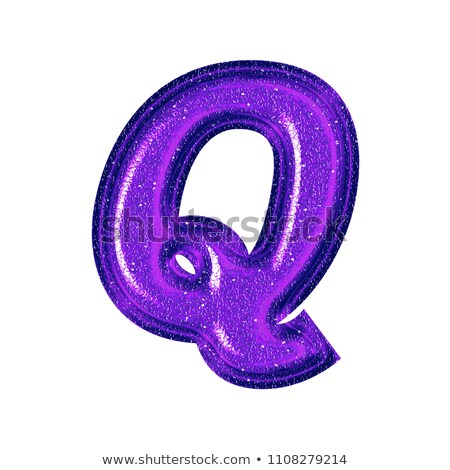 Alphabet Glass Shiny with Sparkles on Background Letter Q Stock photo © gubh83