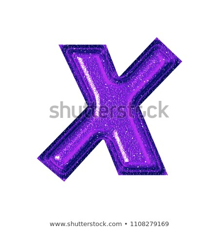 Alphabet Glass Shiny with Sparkles on Background Letter X Stock photo © gubh83
