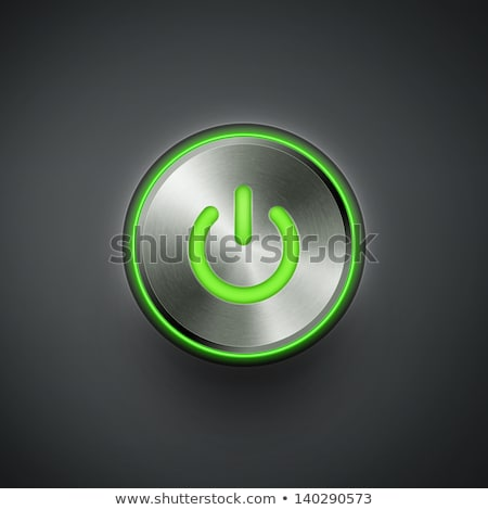 green led power button stock photo © teamc