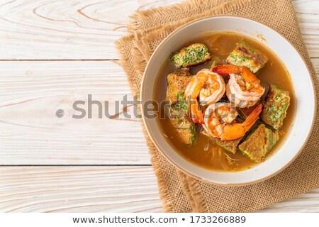 Zöldségek japán konyha tészta vacsora saláta Stock fotó © Elmiko