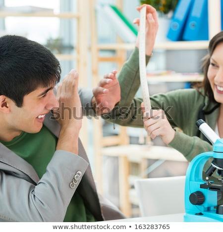Foto stock: Escola · secundária · estudantes · jogar · juntos