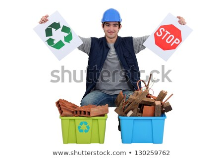 Tradesman encouraging recycling Stock photo © photography33