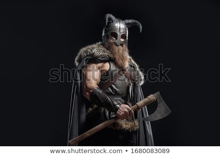 rajz · mérges · viking · férfi · néz - stock fotó © clairev