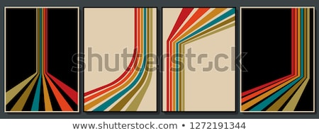 colorful retro lines background  Stock photo © Anja_Kaiser