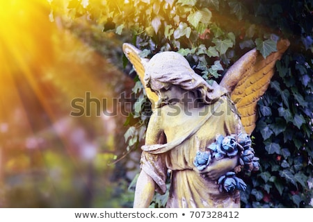 Temető szobor angyal kő temető béke Stock fotó © stevanovicigor