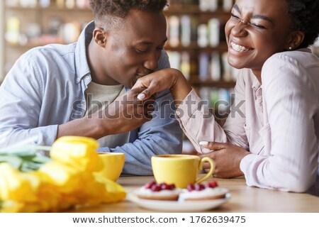 Guapo tipo besar amado compañera bastante Foto stock © konradbak