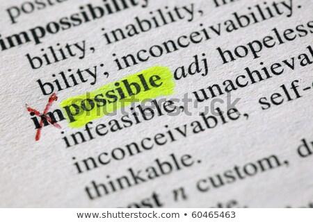 Possible concept with word impossible in a dictionary stock photo © sqback