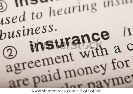 The word insurance highlighted in a dictionary stock photo © sqback