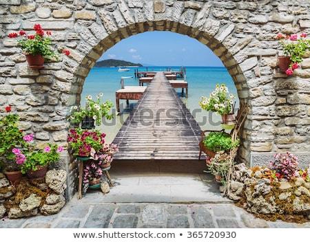 Arch to Mediterranean sea Stock photo © tuulijumala