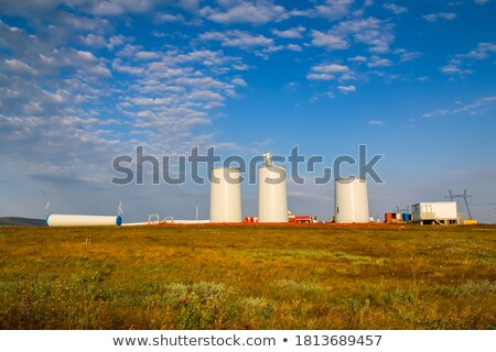 Stock photo: electric windmill aerogenerator blue sky
