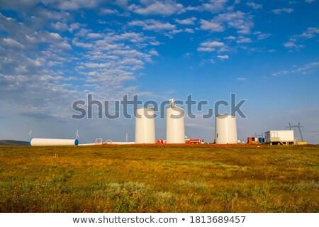 windmolen · blauwe · hemel · perspectief · hemel · natuur · landschap - stockfoto © lunamarina