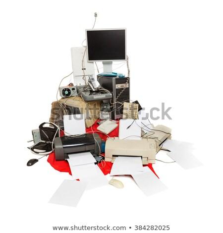eski · bilgisayar · soyut · teknoloji - stok fotoğraf © lunamarina