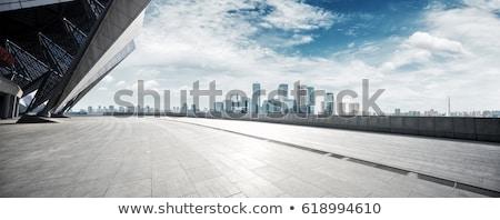 Modern város építészet toronyház épületek áll Stock fotó © ArenaCreative