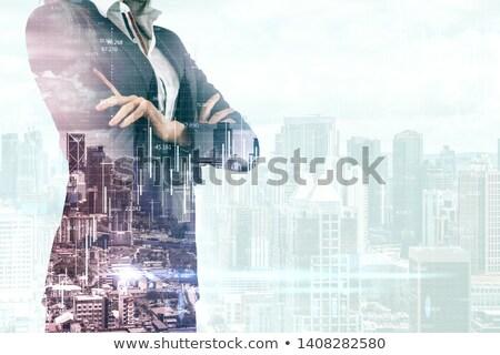 pad · achtergrond · gebouwen · stedelijke · architectuur - stockfoto © zzve
