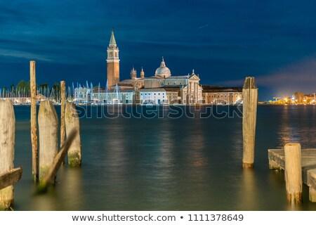 Venice Italy Saint George island by night  Stock photo © keko64
