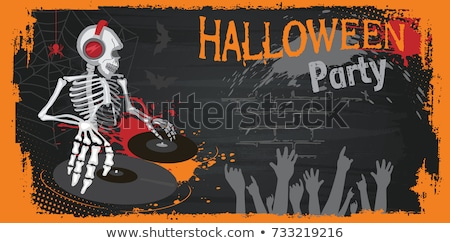 ストックフォト: 怖い · 血液 · 悪 · ハロウィン · 吸血鬼 · 文字
