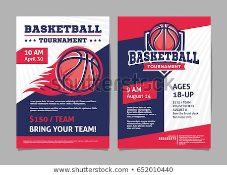 basketball poster vector illustration stock photo © leonido