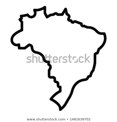 Foto stock: Brasil · ícone · cidade · construção · carimbo · cartão · postal