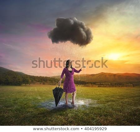 влажный · красивая · женщина · красный · Бикини - Сток-фото © vetdoctor