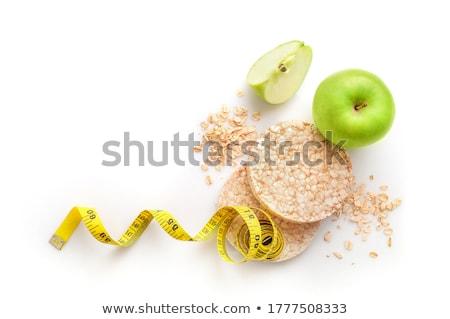 poz · tatlı · çörek · yeşil · elma · mutfak - stok fotoğraf © iko