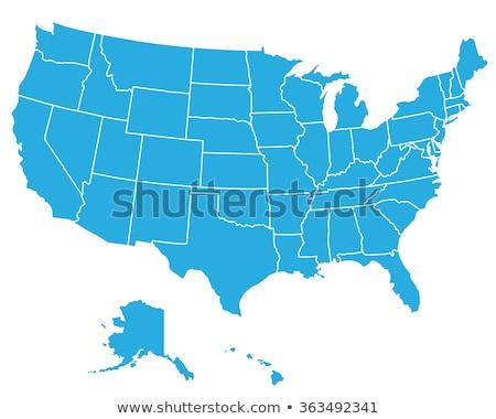 Rood · vs · Blauw · Verenigde · Staten · amerika · kaart - stockfoto © alexmillos