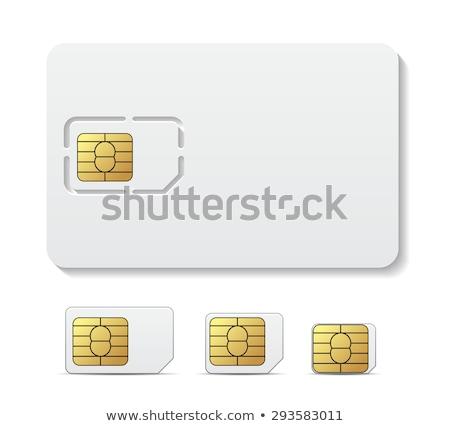 blank sim card stock photo © gladiolus