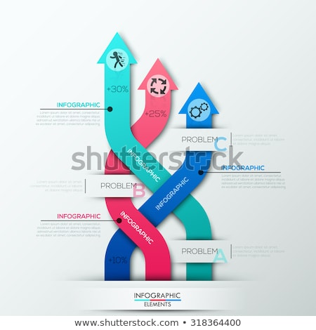 The problem of the choice of three options illustration design Stock photo © alexmillos