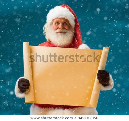 papai · noel · vermelho · papel · mãos · tabela - foto stock © hasloo