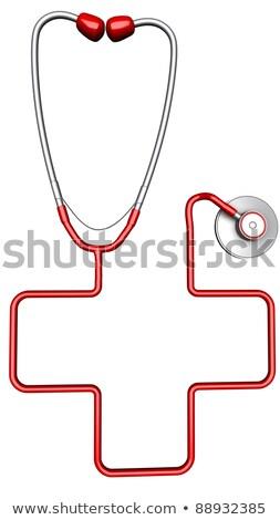 聴診器 孤立した 白 医師 クロス 背景 ストックフォト © Kirill_M