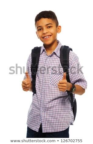 Twelve year old boy standing, isolated Stock photo © jarenwicklund