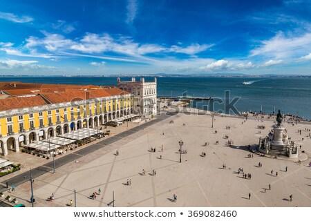Estatua rey Lisboa Portugal ciudad caballo Foto stock © anshar