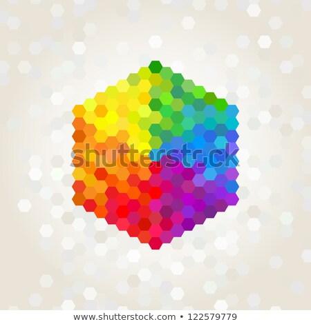 Purple оранжевый шаблон вектора текстуры Сток-фото © HypnoCreative