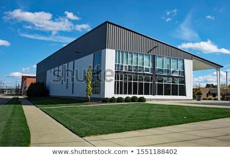 Stockfoto: Commercial Outdoor Sidewalk Landscaping