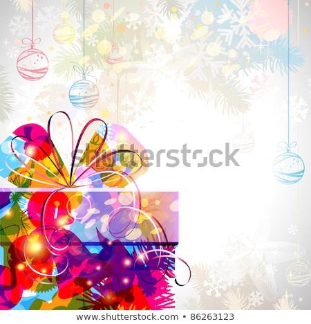 piękna · christmas · dekoracji · fioletowy · srebrny · biały - zdjęcia stock © tomjac1980