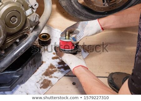 olie · filteren · element · schoonmaken · verbranding · motor - stockfoto © kokimk