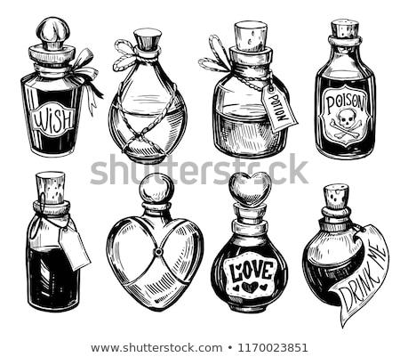 ベクトル 毒 ボトル 医療 死 頭蓋骨 ストックフォト © odes