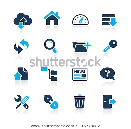 Blue bar server icons Stock photo © SergeyT