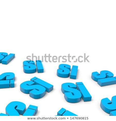 Veel ja Italiaans Blauw tekst witte Stockfoto © make