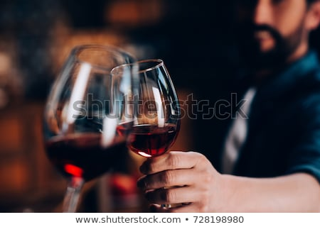 Close-up Of Hands Toasting Wine Glasses Stock photo © AndreyPopov