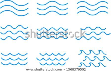 Mar ondas céu sol paisagem palma Foto stock © vrvalerian