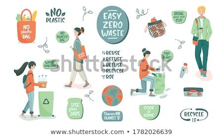 milieuvriendelijk · banner · eco · houtstructuur · achtergrond · aarde - stockfoto © digitalmojito