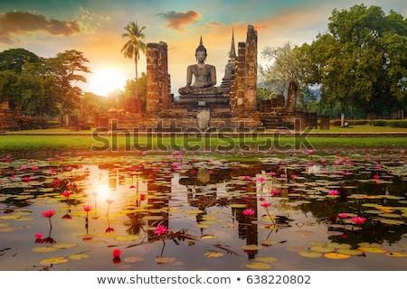 Buddha sculptuur Thailand ruines oude Stockfoto © pzaxe